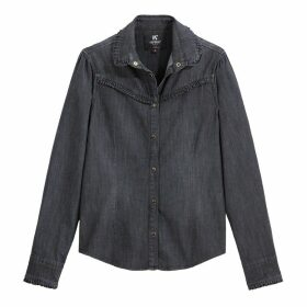 Denim Shirt with Flying Detail