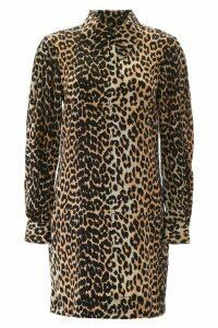 Ganni Leopard Mini Dress