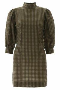 Ganni Check Mini Dress