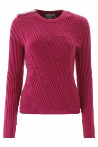 Ganni Crystal Button Pullover
