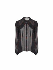 Chloé Printed Silk Blouse