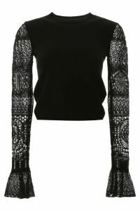 Alexander McQueen Pullover With Crochet Sleeves