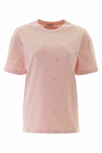 Miu Miu T-shirt With Decorative Crystals