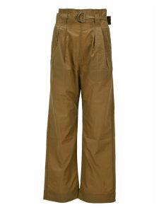 Ganni Crinkled Tech Belt Pants