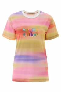 See by Chloé Rainbow Logo T-shirt