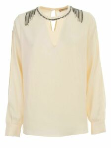 TwinSet Shirt V Neck W/swarovsky On Neck