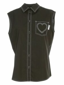 Love Moschino Shirt W/s W/heart On Pockets