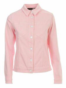 Love Moschino Denim Jacket W/heart On Pockets