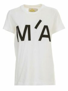 MarquesAlmeida T-shirt S/s Logo Embroidered Cap Sleeve