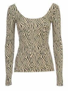 Nanushka Aurelia T-shirt L/s Wide Neck W/print