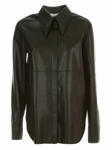 Nanushka Noelle Shirt L/s Slim Faux Leather