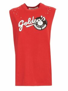 Golden Goose T-shirt W/s Crew Neck Golden Record