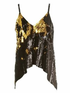 MarquesAlmeida Top This Straps Sequin W/draped Hem