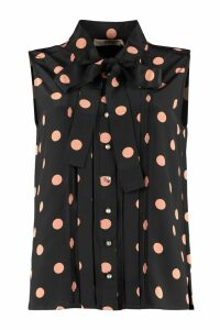 Tory Burch Polka-dot Print Silk Blouse