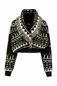 Alanui Rainy Mountains Cropped-length Knitted Cardigan