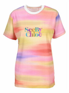 See By Chloe rainbow Logo T-shirt
