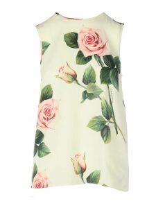 Dolce & Gabbana Rose Print Vest