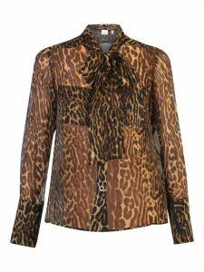Burberry Leopard Print Shirt