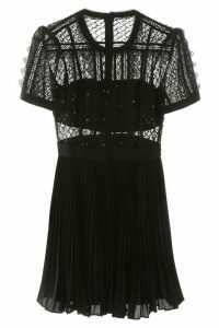 self-portrait Mini Dress With Lace And Sequins