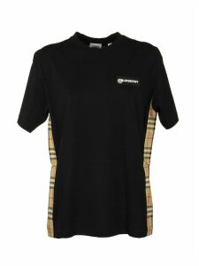 Burberry Vintage Check Panel Cotton Oversized T-shirt
