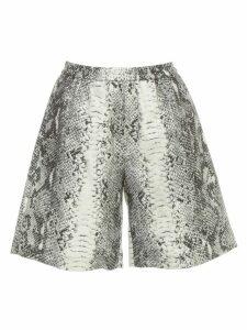 N.21 Python Printed Shorts Cotton Gabardine W/coulisse