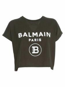 Balmain T-shirt S/s Cropped W/logo