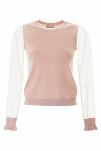 RED Valentino Pullover With Plumetis Sleeves
