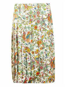 Tory Burch Contrast Binding Pleated Pencil Skirt