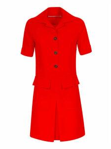 Victoria Victoria Beckham Dressed Short Sleeve Shirt Dress