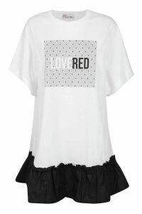 RED Valentino T-shirt Love Red Dress