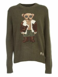 Polo Ralph Lauren Sweater L/s Crew Neck W/teddy Glass And Mirror