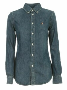 Polo Ralph Lauren Shirt L/s Denim Slim W/horse
