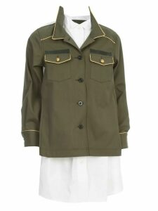 Sacai Fabric Combo Shirt Sacket