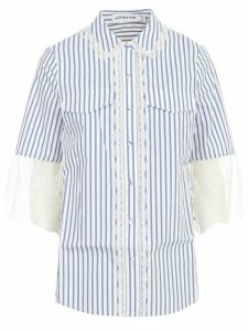self-portrait Shirt W/stripes And Lace