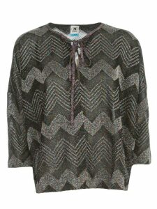 M Missoni Sweater L/s Crew Neck Zig Zag