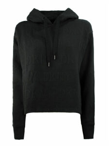 DKNY Black Cotton Blend Hoodie