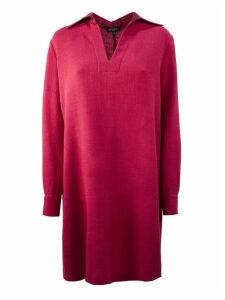 Antonelli Coral-tone Virgin Wool Dress