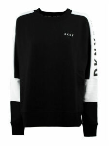 DKNY Black Cotton Blend Sweatshirt