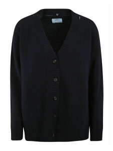 Prada Ribbed Buttoned Cardigan