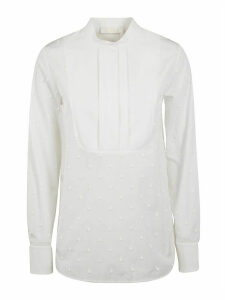 Chloé Round Collar Beaded Detail Shirt