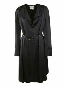 Bottega Veneta Long Sleeve Belted Waist4 Detail Dress