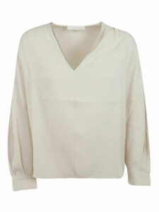 Fabiana Filippi V-neck Long-sleeved Top