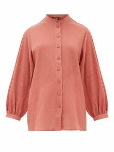 Albus Lumen - Levitas Balloon-sleeve Cotton Shirt - Womens - Pink