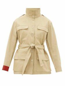 Kilometre Paris - Embroidered Cotton-twill Jacket - Womens - Beige