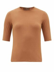 Albus Lumen - Lumen Round-neck Jersey T-shirt - Womens - Brown