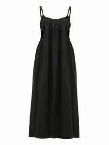 Araks - Yeraz Cut-out Cotton-poplin Midi Dress - Womens - Black
