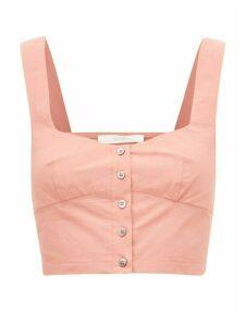 Araks - Tilly Cropped Cotton-poplin Top - Womens - Pink