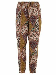The Upside - Poppy Floral-print Crepe Trousers - Womens - Green Multi