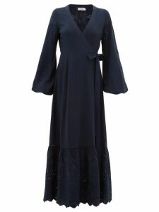 The Upside - Kate Broderie-anglaise Wrap Dress - Womens - Navy