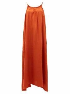 Loup Charmant - Amelia Tie-shoulder Silk Maxi Dress - Womens - Copper